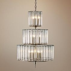 """Currey and Company Bevilaqua 43"""" High Silver Chandelier"""