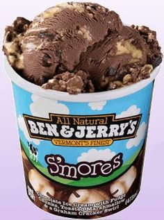 S'mores - Chocolate Ice Cream with Fudge Chunks, Toasted Marshmallow & a Graham Cracker Swirl