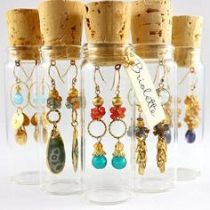 What a creative way to see & display earrings! Cute way to keep them together & organized in your jewelry box too!