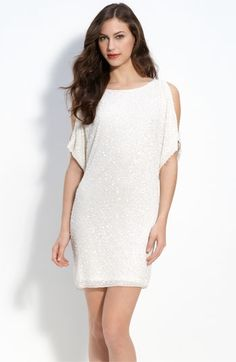 Aidan Mattox 'Cold Shoulder' Sequin Dress | Nordstrom - StyleSays