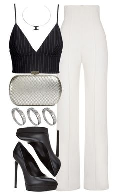 """""""Untitled #401"""" by foreverdreamt ❤ liked on Polyvore featuring Yves Saint Laurent, H&M, Whiting & Davis, ASOS and Chanel"""