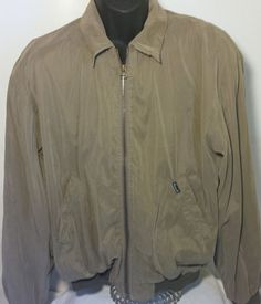 Faconnable Men Size Large Jacket Water Resistant Brown Windbreaker  #Faconnable #Windbreaker
