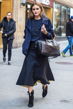 Olivia Palermo.. Akris jacket, Aquazzura + Olivia Palermo Suede Ankle Boots, and Givenchy Antigona Bag..