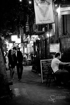 east village walk new york engagement session