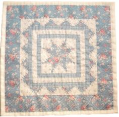 Blue Floral by ShabbyMiniQuilts on Etsy