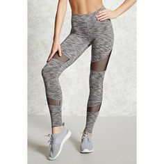 Forever21 Active Space Dye Leggings ($23) ❤ liked on Polyvore featuring pants, leggings, legging pants, forever 21 pants, forever 21 and forever 21 leggings