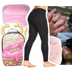You Better Secure That Bag Lil Baby . by bigbittyblack on Polyvore featuring polyvore, fashion, style, Marika, Wild & Woolly, Sprayground and clothing