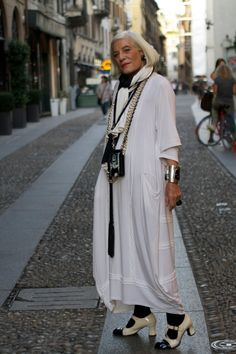 I'm Proud To Be __ Years Old. Fashion is this lady.