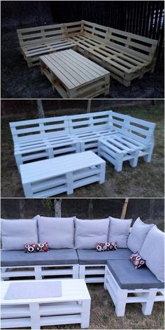 This is much a creative designed wood pallet couch design for the garden areas that is all finished with the incredible working on top of it. It is royal looking in appearance which you can place it all over in your garden. It is all furnished with the rustic use of the wood pallet in it.