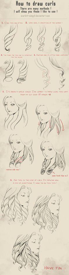 114 - How to draw curls by Scarlett-Aimpyh on deviantART