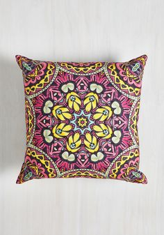 Stained Glass Sass Pillow. Give a hint of historical pizzazz to your home with this cotton pillow! #multi #modcloth