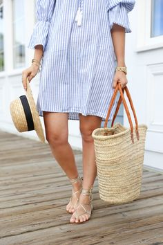 Summertime in New England Trendy Outfits, Summer Outfits, Fashion Outfits, Womens Fashion, Beach Look, Beachwear For Women, Summer Wardrobe, Summer Looks, Spring Summer Fashion