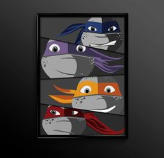 Teenage Mutant Ninja Turtles Poster Print by TheCuttingEdgeShop