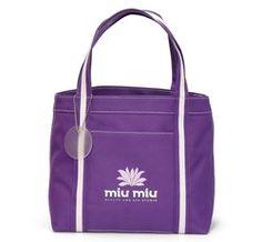Promotional Tote Bags, Custom Cinch Sacks, Pad Folios, Promotional Bags, Logo Back Packs, Imprinted - Piccolo Mini Tote - Purple - 132
