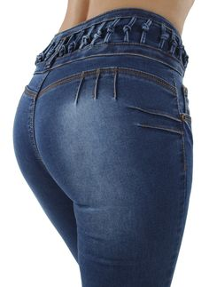 378ca132ef6 price  US  14.99 Colombian Design Butt Lift Push Up Mid   High Waist Skinny  Denim