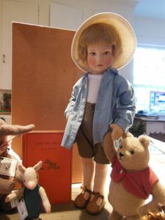 R John Wright Doll Christopher Robin Pooh Piglet Eyore A E Milne Books   eBay