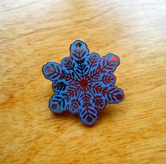 Vintage Snowflake Brooch or Pin by gammiannes on Etsy, $5.00