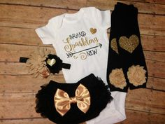 newborn girl clothes baby girl coming home outfit by SweetnSparkly