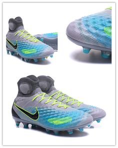 New Nike Magista Obra II FG ACC Soccer Boot Grey Blu Nike Cleats 64e416815