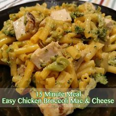 15 Minute Meal - Easy Chicken Broccoli Mac & Cheese Recipe - From Val's Kitchen