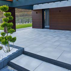 Modern Garden Design, Patio Design, House Design, Backyard Patio, Walkway, Garden Landscaping, Pergola, Exterior, Building