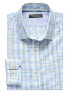 Tailored Slim-Fit Non-Iron Bold Plaid