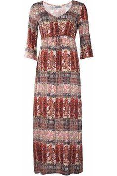 Dames Geprinte jurken - Geisha Jurk Lang