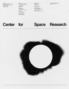 Jacqueline Casey, Center for Space Research Symposium, Massachusetts Institute of Technology poster, 1968, Collection SFMOMA
