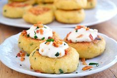 Loaded Mashed Potato Cakes--these little gems sound delish and are very simple to make:)