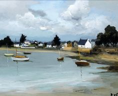 """dyf marcel boats at port navelo brittany (from <a href=""""http://www.oldpainters.org/picture.php?/24689/category/11484""""></a>)"""