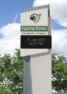 Epping Views LED Entry Plinth Electronic Sign   Danthonia Designs