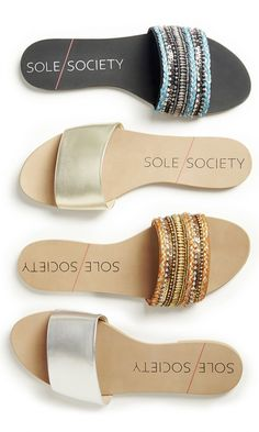 Comfortable slip-on banded sandals