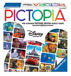 Pictopia-Family Trivia Game: Disney Edition Promotes family together-time Encourages strategic thinking Encourages cooperation and team. Disney Games, Disney Songs, Disney Quotes, Disney Stuff, Family Game Night, Family Games, Operation Board Game, Classic Board Games, Board Games For Kids