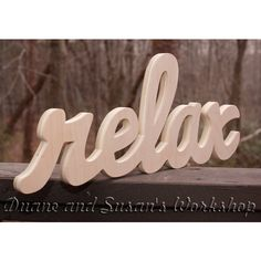 Relax Sign Diy Wall Hanging Wooden Relax Sign Wooden Letters Home... ($25) ❤ liked on Polyvore featuring home, home decor, wall art, grey, home & living, home décor, ornaments & accents, word wall art, wood wall hanging and handmade wooden signs
