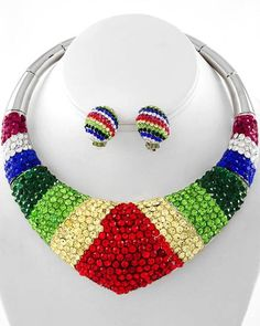 """""""Total Glam Rainbow"""" Necklace & Earring Set   Follow link to purchase: http://payv.me/HtXrgT"""
