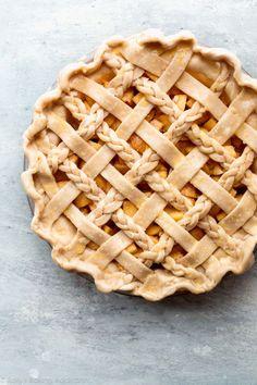 Braided lattice pie crust on sallysbakingaddiction.com