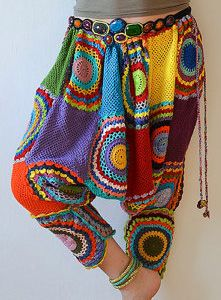 Funky crochet harem pants