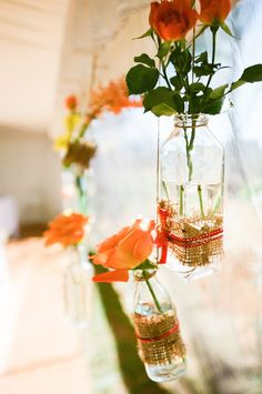 hanging flowers.