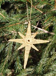 Crocheted Star of Bethlehem ornament especially designed for all of you. You can find more free Christmas and Holiday patterns by clicking here. Crochet Star Patterns, Christmas Crochet Patterns, Crochet Stars, Holiday Crochet, Crochet Snowflakes, Crochet Round, Free Crochet, Beginner Crochet, Double Crochet
