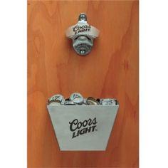 Coors Light Bottle-Cap Catcher Set Bottle Lights, Coors Light, Corks, Catcher, Man Cave, Bottle Opener, Basement, Backyard, Cap