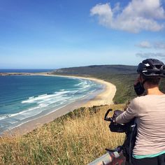 Day 212 - Papatowai > Curio Bay. Still riding through the Catlins with views over the coast and through the rainforest. Sleeping in Curio Bay but we didn't see any dolphins though.