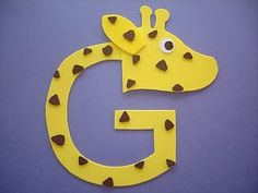 Genealogy Tips and News: The Letter G---Family History Through The Alphabet Challenge Preschool Letter Crafts, Alphabet Letter Crafts, Abc Crafts, Daycare Crafts, Alphabet Activities, Preschool Activities, Letter Art, Preschool Learning, Kids Crafts