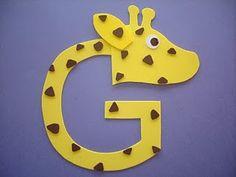 """Letter """"G"""" Giraffe"""