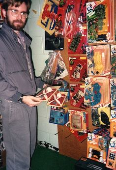 Hasbro's morgue/corporate archive located in the basement of their manufacturing plant in Central Falls, a Rhode Island.  Circa 1990/91.  These pics are of professional artist, G. I. Joe collector, Wayne Faucher.