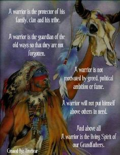 something for some of the leaders of our tribes