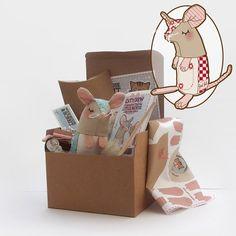 Nordic Christmas Mouse Plush Kit by WoodMouseandBobbit on Etsy