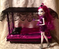 Monster High Furniture Canopy Bed   Shimmery by LilliansLMB, $17.99