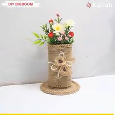 Diy best out of waste bottle and wool home decoration idea. # DIY Home Decor videos Amazing DIY Ideas Diy Crafts Hacks, Diy Home Crafts, Diy Arts And Crafts, Craft Stick Crafts, Diy Crafts Videos, Diy Craft Projects, Creative Crafts, Paper Flowers Craft, Paper Crafts Origami