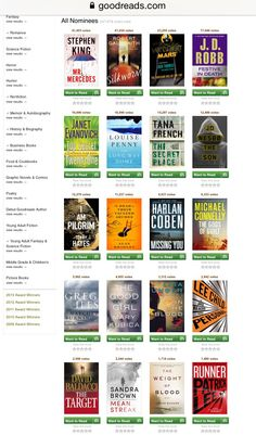 Mysteries and thrillers -  Goodreads Choice Award 2014