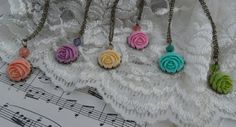 Everlasting Rose Necklace by thewhisperingseas on Etsy, $15.00